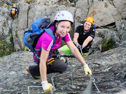 Im Juli ist Klettersteigzeit